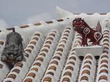 Shisa on a modern roof, Taketomi Island