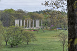 View from the azalea gardens: US Capitol columns