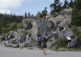 'Rock climbing' at Clingman's Dome