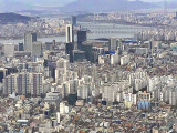 Helicopter view of Seoul
