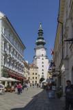 Old Town clock tower in Bratislava