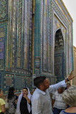 Shah-i-Zinda and tour guide, Samarkand