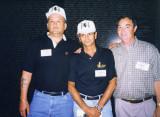 Goody, Tom Hinger and I at The Wall, 1998