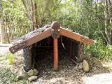 Maori fishing village replica
