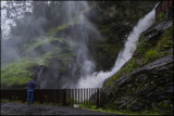 Roald at the Svandal waterfall. Sauda, Norway....