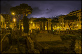 Lightning over Largo di Torre Argentina,Rome....