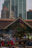 Evening at Lau Pa Sat food court (Festival Market) in the financial district