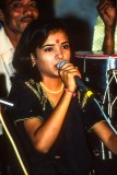 Vocalist at a garba festival, Rajkot