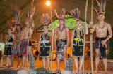 Tribal dance ensemble at Mari-Mari Cultural Village, Kota Kinabalu