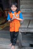 Girl in school tunic, KK