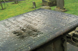 Gravestone at the plague village of  Eyam
