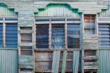Weatherbeaten windows, Kampong Buli Sim Sim floating village