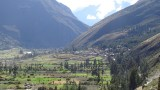 View of the Sacred Valley from Ollantaytambo