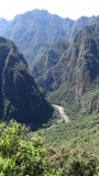 View of the Urubamba River from Machu Picchu