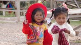 Children at road side stop outside Cusco