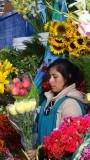 Cusco San Pedro Market Flower Vendor