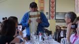 Washington playing the Pan Flute