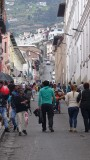 Quito Historic Center Street Closed to traffic Sunday