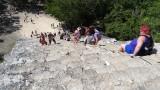 Looking Nohoch Mul Pyramid
