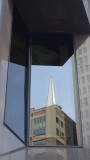 Transamerica Pyramid Reflected in B of A Building