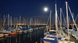 Moonrise over South Beach Harbor