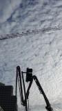 Concrete Pumper, Crane, Clouds