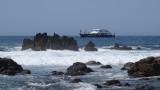 Boat Cruising off the coast