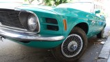 Vintage Green Ford Mustang