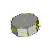 Model of the Brage phosgenite crystal using smorf.nl