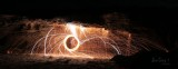 Burning Steel wool Supercharged with Magnesium :-)
