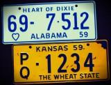 Miniature License Plates - '53-'59