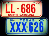 Miniature License  Plates - '68-'75