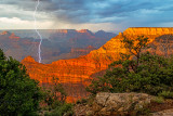 Monsoon Lightning near Mather Point, Grand Canyon National Park, AZ