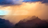 Monsoon thunderstorm at sunset, Grand Canyon National Park, AZ