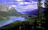 (CR11) Peyto Lake and Mistaya Mountain, Banff National Park, Alberta, Canada