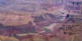 Colorado River snaking through the Grand Canyon