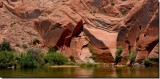 Glen Canyon natures artistic wall carvings