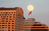 Moonrise over Downtown Sacramento