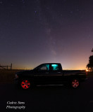 Light Painting my truck with Milkyway in background