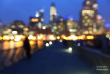 Out of Focus shot of Pier 14 with the San Francisco.skyline in the background.