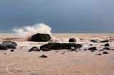 Rough sea at Salcome Mouth