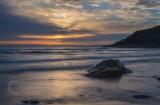 Sunset at Poldhu Cove on the Lizard i Cornwall