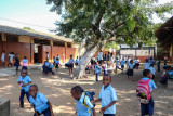 Maputo Mozambique, school yard