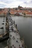 View from the Old Town Bridge Tower (Staroměstská mostecká věž)