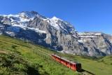 Kleine Scheidegg. Train to the Jungfrau