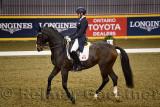 Megan Lane riding dancing Caravella at Royal International Dressage Cup at Ricoh Coliseum Royal Horse Show Exhibition Place Toro