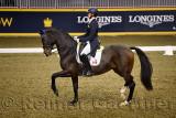 Megan Lane riding high stepping Caravella at Royal International Dressage Cup at Ricoh Coliseum Royal Horse Show Exhibition Plac