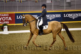 Esther Mortimer riding Diamond Geezer at Royal International Dressage Cup at Ricoh Coliseum Royal Horse Show Exhibition Place To