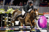 Shane Sweetnam on Main Road in jump off to second place in the Longines FEI World Cup Show Jumping competition at the Royal Hors