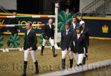 Richie Moloney, Sharn Wordley, Ian Miller, Nicola Philippaerts, Amy Miller, Daniel Coyle, walking the course of Longines FEI Wor